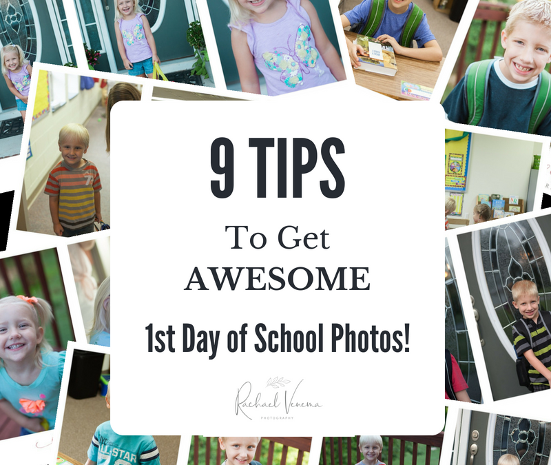 9 TIPS to Get AWESOME First Day of School Photos | Ripon California Photographer