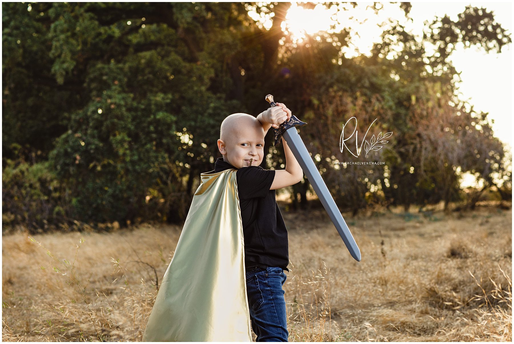 Ripon family photographer Rachael Venema captures young boy fighting cancer during his outdoor portrait session
