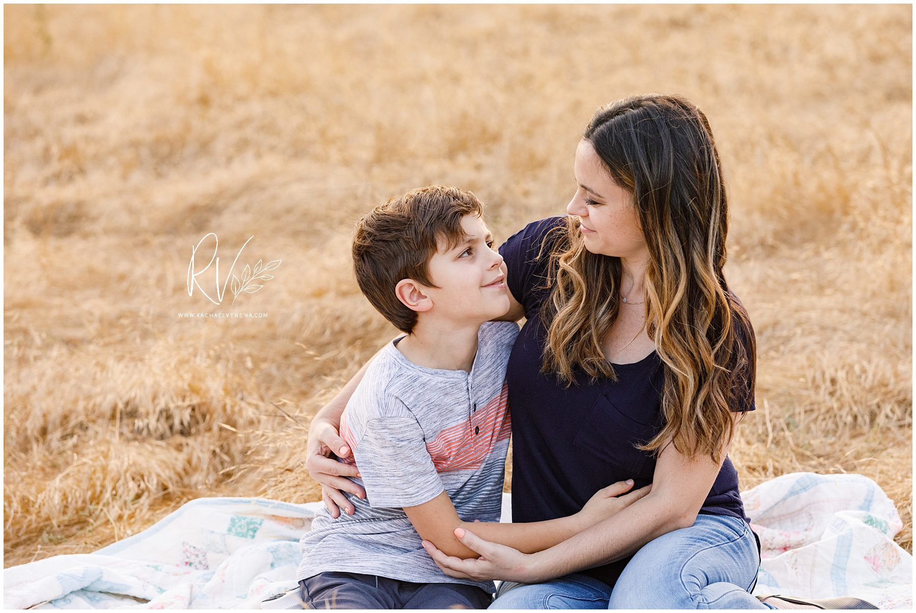 mother and son during an outdoor family portrait session